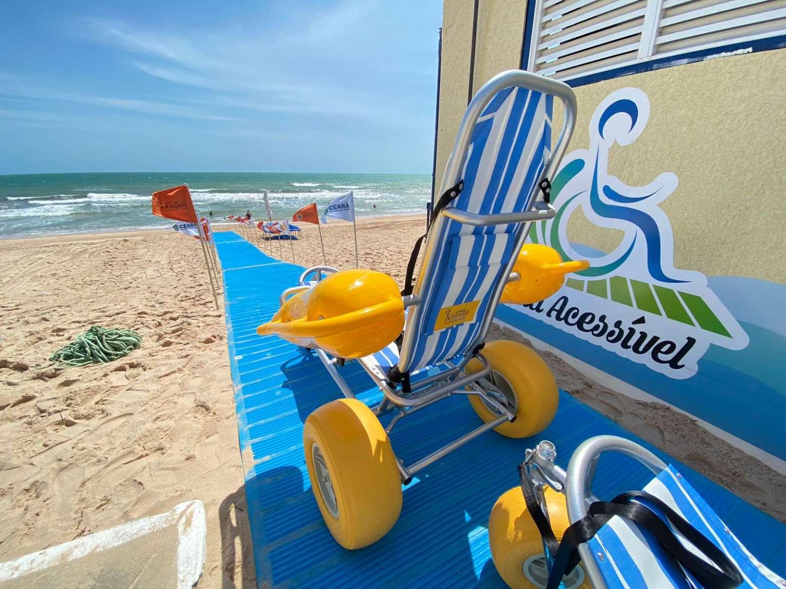 Terceira estação do projeto Praia Acessível é inaugurada na praia de Majorlândia, em Aracati
